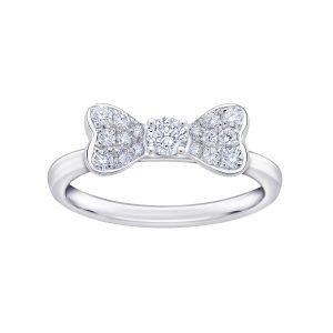 甜美可愛的蝴蝶結戒指